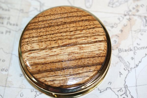 Magnifying Glass - Paperweight - African Zebrawood - Handcrafted Large Magnifying Glass Paperweight - Desk Magnifier - 24 ct Gold Finish