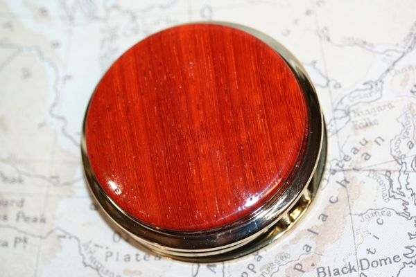 Magnifying Glass - Paperweight - African Padauk - Large Magnifier - Wood Paperweight - Desk Magnifier - Magnifier - Maps - 24 ct Gold Plate