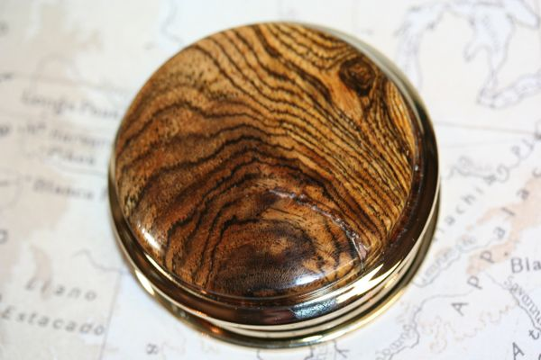 Magnifying Glass - Paperweight - South American Bocote - Handcrafted Large Magnifying Glass Paperweight - Reading - Desk - 24 ct Gold Plate