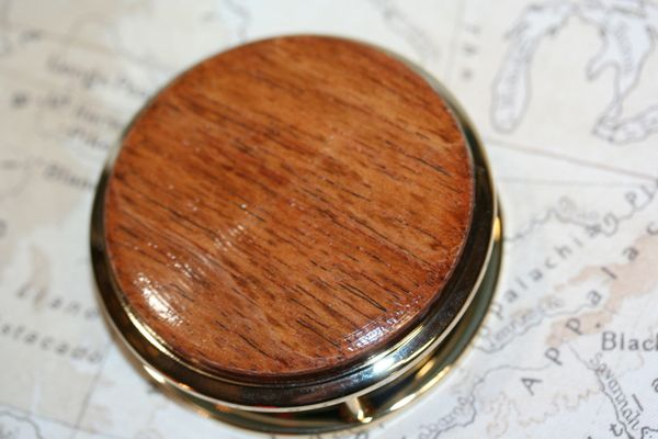 Magnifying Glass - Paperweight - South American Jatoba - Handcrafted Large Magnifying Glass Paperweight - Desk Magnifier - 24 ct Gold Finish