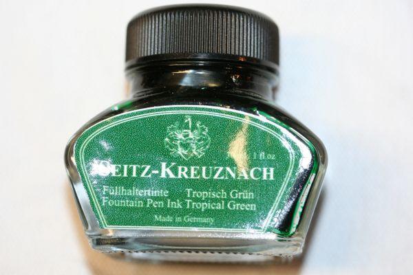 Fountain Pen Ink Bottle - Seitz-Kreuznach Ink - Tropical Green Ink - Green Ink - Fountain Pen Ink - Bottled Ink