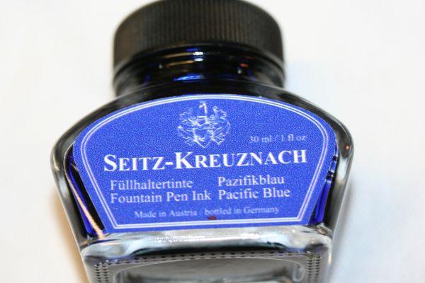 Fountain Pen Ink - Seitz-Kreuznach Ink - Pacific Blue Ink - Blue Ink - Fountain Pen Ink - Bottled Ink - Pacific Blue