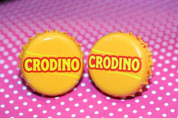 Cufflinks - Cuff Links - Crodino (Italian) Non Alcohol Beer Cap Cufflinks - Bottle Cap Cufflinks - Groomsman Gift - Beer Cap Cuffllinks