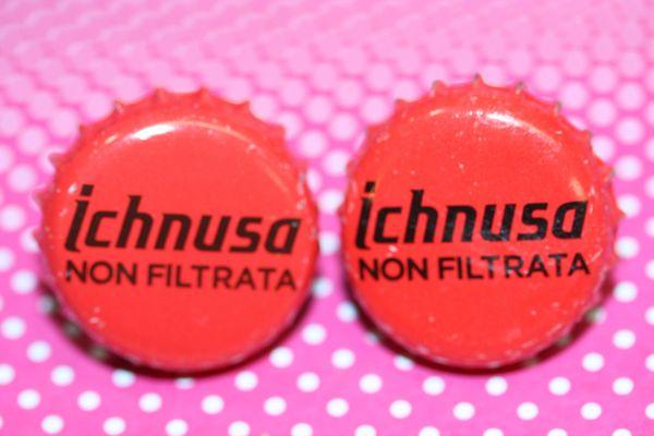Cufflinks - Cuff Links - Bottle Cap Cufflinks - Ichnusa Beer (Italian) Cap Cufflinks - Groomsman Gift - Ichnusa Beer Cap Cuff Links