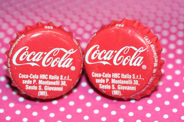 Cufflinks - Cuff Links - Coca Cola (Italian) Cap Cufflinks - Groomsman Gift - Coca Cola Cap Cufflinks - Coca Cola - Coke Cap Cufflinks