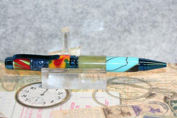 Acrylic Pen - Premium Cigar Pen - Acrylic Mix Pen - Acrylic Mix - Twist Pen - Desk - Writing Instrument - Ballpoint Pen -