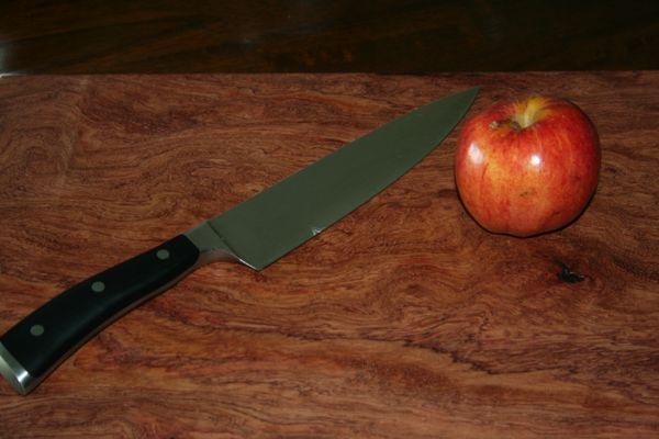 Cutting Board - 22 x 11 Inches - Curly Bubinga - Large Cutting Board - Chef Board - Exotic Wood - Wood - Gift - Butchering - Kitchen Block