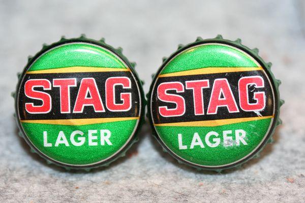 Cuff Links - Stag Lager - Bottle Cap Cufflinks - Beer Cap Cufflinks - Groomsman Gift - Jewelry