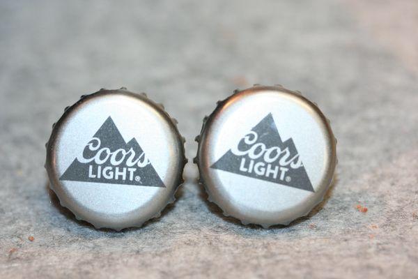 Cuff Links - Coors Light - Bottle Cap Cufflinks - Beer Cap Cufflinks - Groomsman Gift - Jewelry