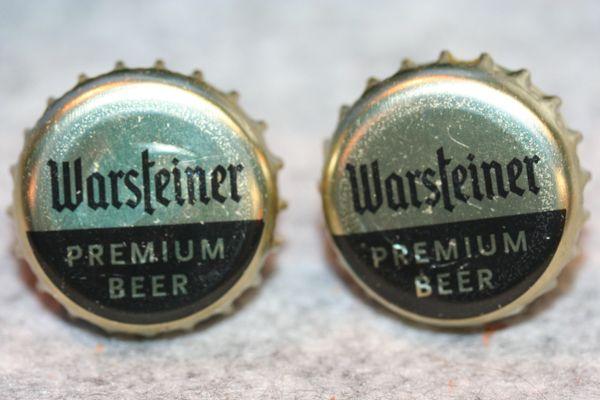 Cuff Links - Warsteiner Beer - Bottle Cap Cufflinks - Beer Cap Cufflinks - Groomsman Gift - Jewelry