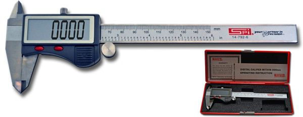 "6"" Electronic Caliper, 5/8"" Easy to Read LCD Display"