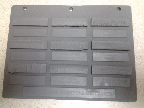 OFC-1 Oxyfuel Gas Cutting Problems/Causes Sample Plate