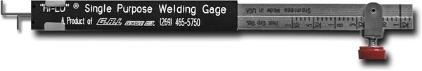 Economy Single Purpose Hi-Lo Welding Gauge, Inch (GG-2)