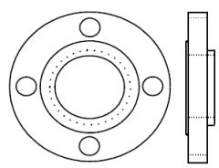 FlawTech-P009 Forged Pipe Flange