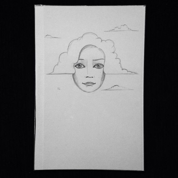 "Clouds 9x6"" graphite drawing"