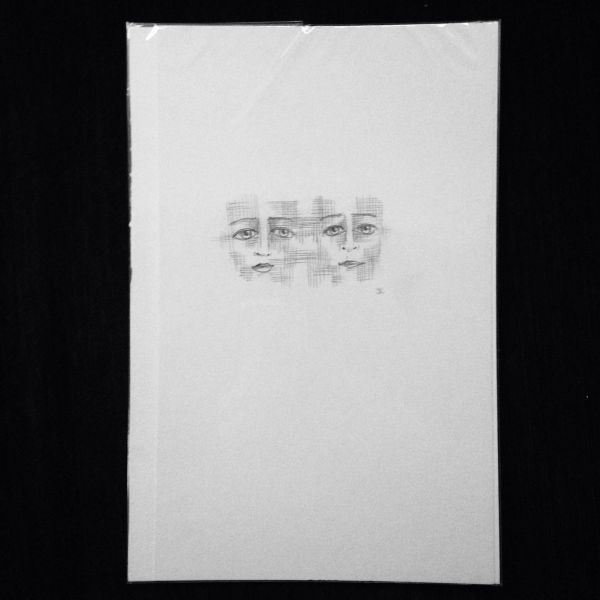 """Intertwined 9x6"""" graphite drawing"""