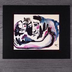 "Embrace 11x15"" paper original watercolor"