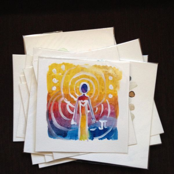 SOLD Original Mini Cosmic Being watercolor