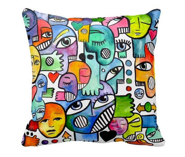 Graffix Throw Pillow