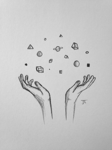 "Hands of the Universe 6x9"" Paper Original Graphite Drawing"