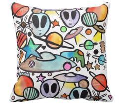Alien Graffix Pillow