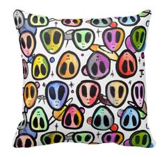 Alien Graffix Pattern Pillow