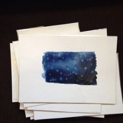 Night sky original mini watercolor