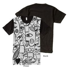 Graffix Shirt Black and White Edition