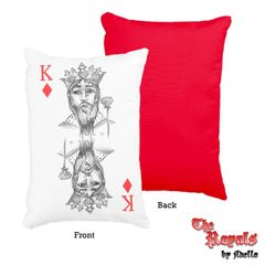 "Royals Pillow - King of Diamonds 12"" x 16"""
