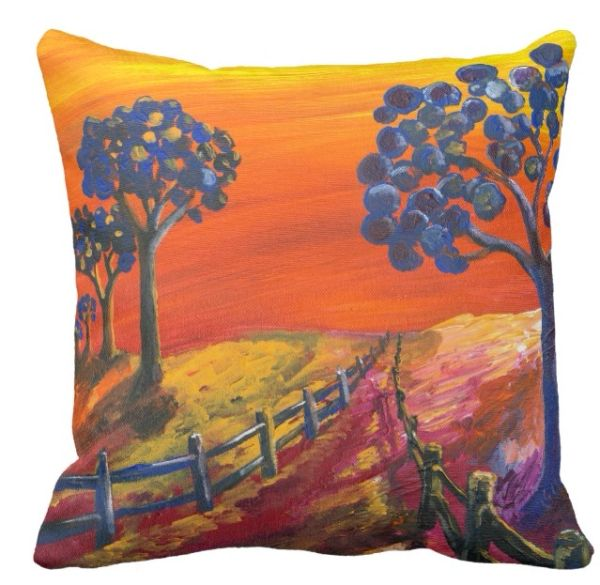 Blueberry Grove Throw Pillow