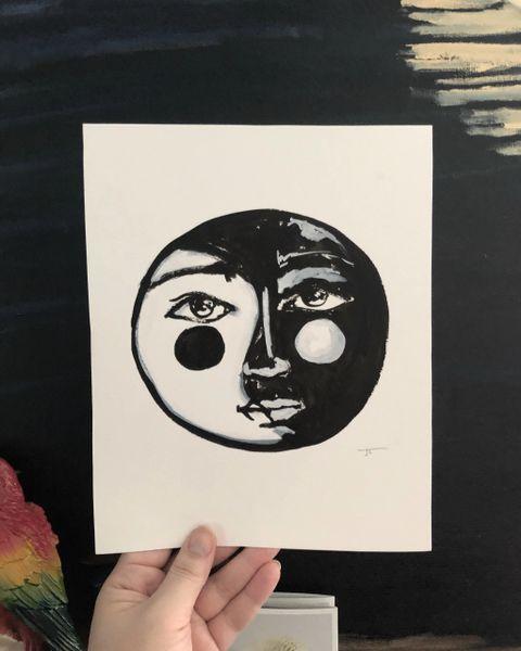 "8x10"" Print - Yin Yang Face"