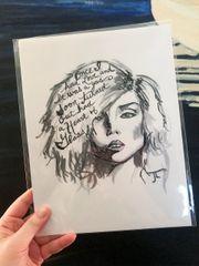 "Debbie Harry 8.5x11"" Paper Print"