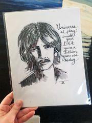 "George Harrison 8.5x11"" Paper Print"