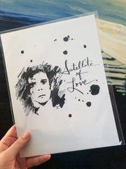 "Lou Reed 8.5x11"" Paper Print"