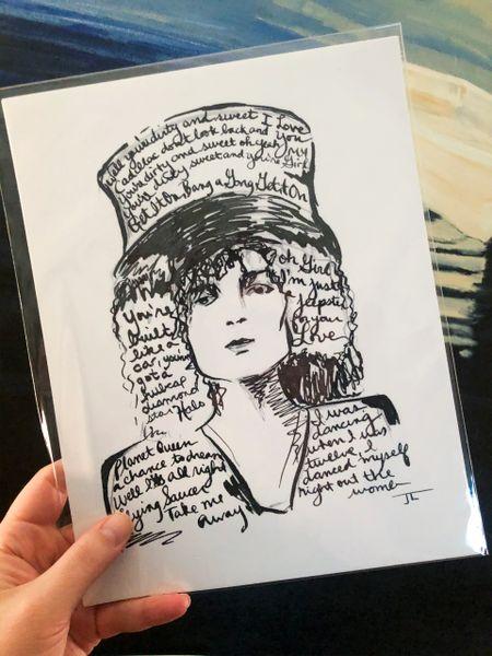 "Marc Bolan 8.5x11"" Paper Print"