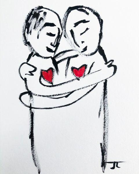 "Grateful Hug 8x10"" print"
