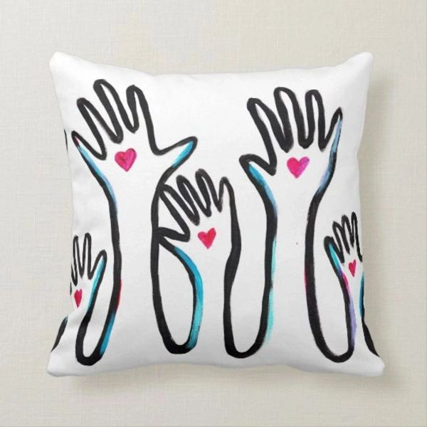 Hands of Support Square Pillow