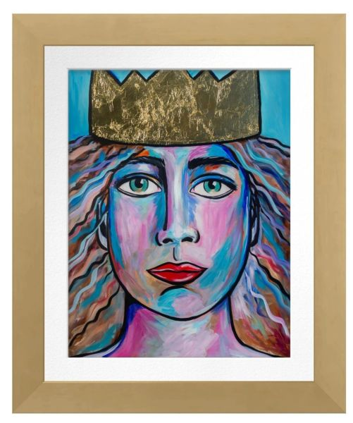 """8.5"""" x 11"""" Gold Framed Archival Print of QUEEN"""