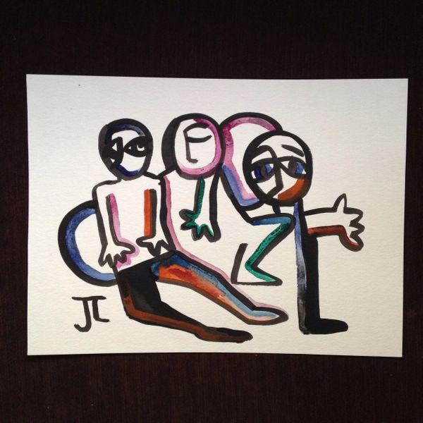 """Watercolor group 9x12"""" original"""