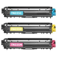 Compatible Toner Cartridge Replacement for Brother TN225 (1 Cyan, 1 Yellow, 1 Magenta, 3-Pack)