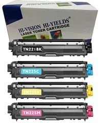 CompatibleToner Cartridge Replacement for Brother TN221/ TN225 (1 Black, 1 Cyan, 1 Yellow, 1 Magenta, 4-Pack)
