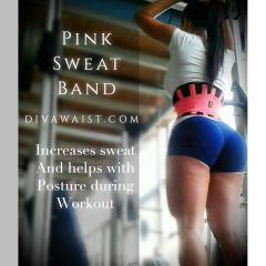 Sports Sweat Band Pink & Black
