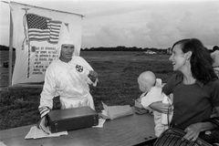 Charles Hashim: Ku Klux Klan cross burning rally, Davie, July 9, 1978