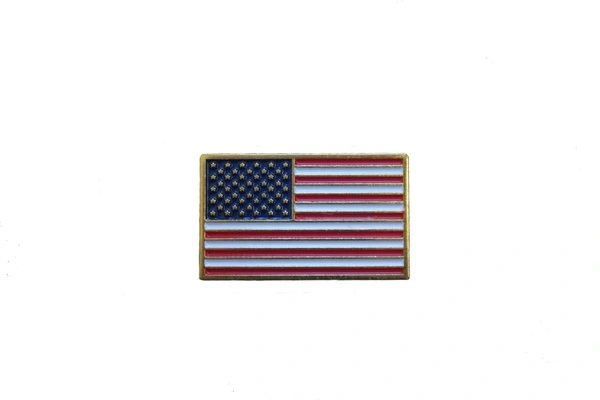 USA NATIONAL SQUARE COUNTRY FLAG LAPEL PIN BADGE .. NEW AND IN A PACKAGE