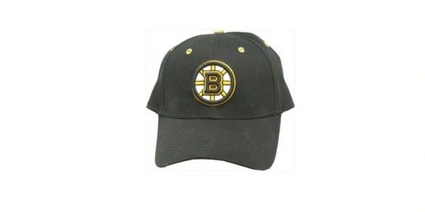 BOSTON BRUINS BLACK NHL HOCKEY LOGO HAT CAP .. NEW