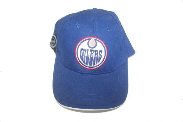 EDMONTON OILERS BLUE NHL HOCKEY LOGO HAT CAP .. NEW