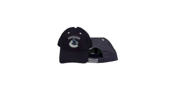 VANCOUVER CANUCKS NAVY NHL HOCKEY LOGO HAT CAP .. NEW