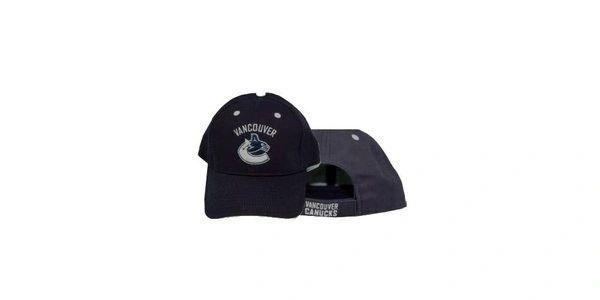 VANCOUVER CANUCKS NAVY NHL HOCKEY LOGO HAT CAP .. NEW