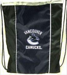 "VANCOUVER CANUCKS NHL HOCKEY LOGO DRAWSTRING KNAPSACK BAG .. SIZE : 14"" X 18"" INCHES .. NEW"