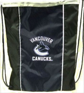 "VANCOUVER CANUCKS NHL HOCKEY LOGO DRAWSTRING KNAPSACK BAG .. SIZE : 14"" X 18"" INCHES .. NEW"